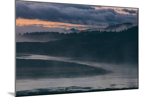 Misty Foggy Morning at Yellowstone River Bend--Mounted Photographic Print