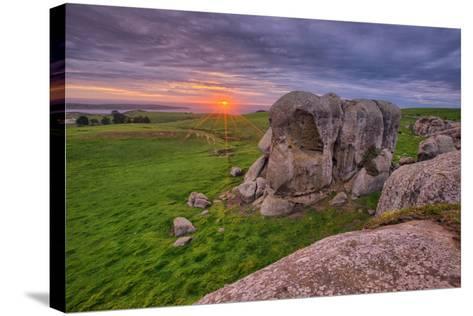 Sunset at Elephant Rock, Dillon Beach, California Coast--Stretched Canvas Print