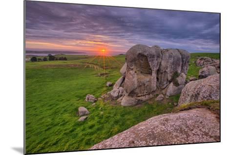 Sunset at Elephant Rock, Dillon Beach, California Coast--Mounted Photographic Print