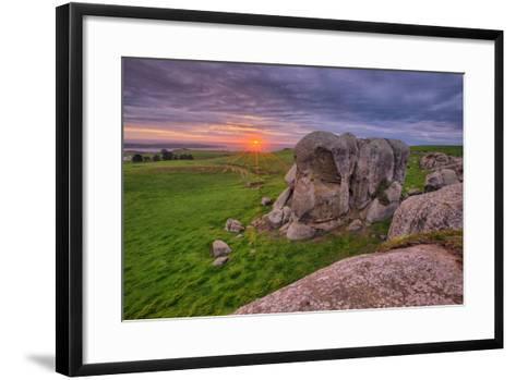 Sunset at Elephant Rock, Dillon Beach, California Coast--Framed Art Print