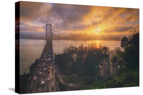 Sunset Between Storms, San Francisco--Stretched Canvas Print