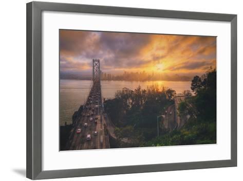 Sunset Between Storms, San Francisco--Framed Art Print