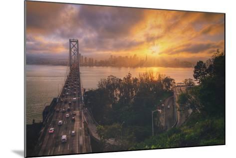 Sunset Between Storms, San Francisco--Mounted Photographic Print