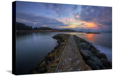Sunrise Pier at Fort Baker, Sausalito California--Stretched Canvas Print