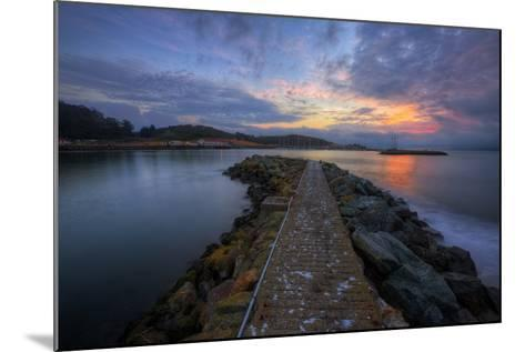 Sunrise Pier at Fort Baker, Sausalito California--Mounted Photographic Print