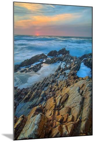 Sunset Seascape at Monta?a de Oro--Mounted Photographic Print