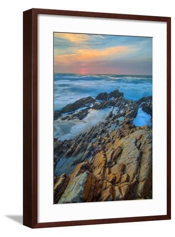 Sunset Seascape at Monta?a de Oro--Framed Art Print