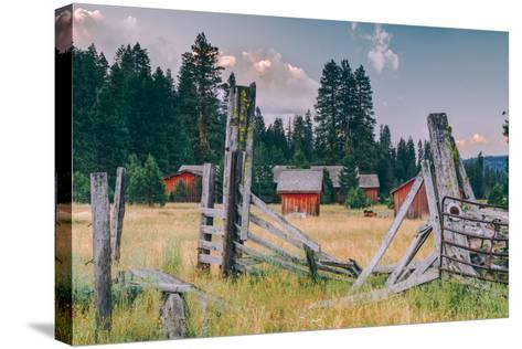 Old Ranch, Mount Shasta, California--Stretched Canvas Print