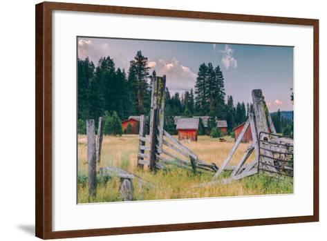 Old Ranch, Mount Shasta, California--Framed Art Print
