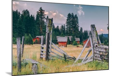 Old Ranch, Mount Shasta, California--Mounted Photographic Print