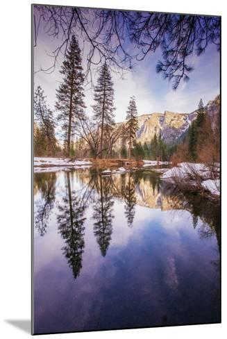 Winter Reflections in Yosemite Valley--Mounted Photographic Print