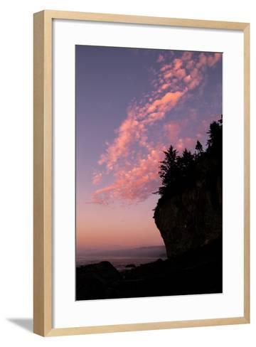 Sunset Cloud Design at Patrick's Point, California Coast--Framed Art Print