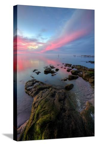 Divine Color at Sunset, San Pablo Bay, Bay Area--Stretched Canvas Print