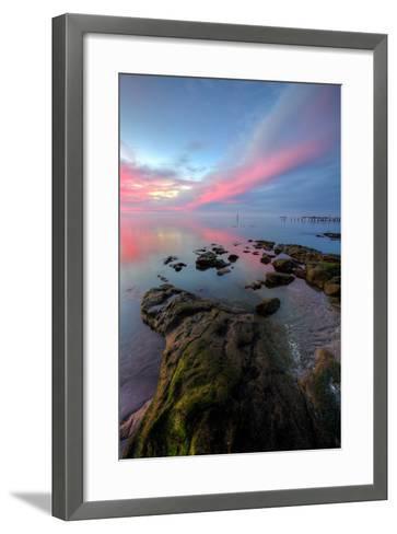 Divine Color at Sunset, San Pablo Bay, Bay Area--Framed Art Print
