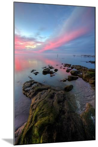Divine Color at Sunset, San Pablo Bay, Bay Area--Mounted Photographic Print