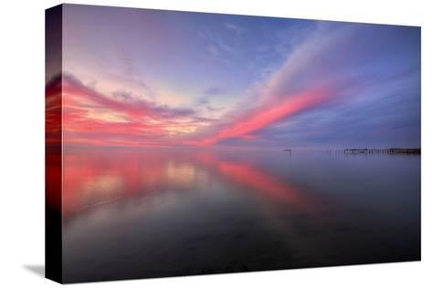 Sunset Bay Design at San Pablo Pier, Bay Area--Stretched Canvas Print