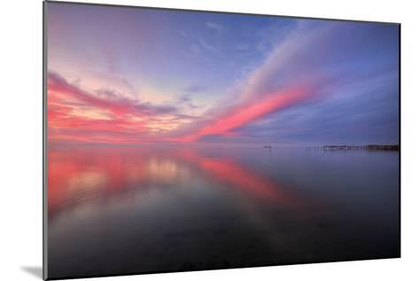 Sunset Bay Design at San Pablo Pier, Bay Area--Mounted Photographic Print