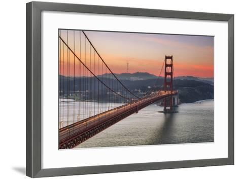 Morning Sky and South Tower, Golden Gate Bridge--Framed Art Print