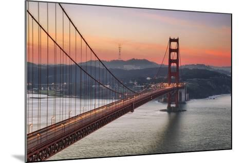 Morning Sky and South Tower, Golden Gate Bridge--Mounted Photographic Print