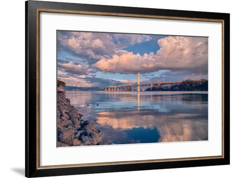 Bay Bridge Cloudscape Wide, Oakland, California--Framed Art Print