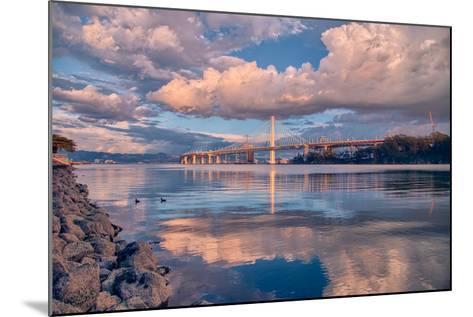 Bay Bridge Cloudscape Wide, Oakland, California--Mounted Photographic Print