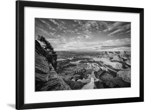 Classic Dead Horse Point in Black and White, Moab Utah--Framed Art Print