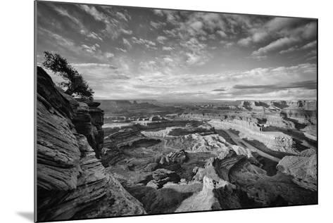 Classic Dead Horse Point in Black and White, Moab Utah--Mounted Photographic Print