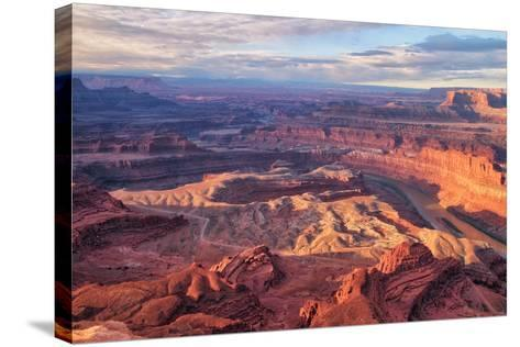 Morning Light at Dead Horse Point, Southern Utah--Stretched Canvas Print