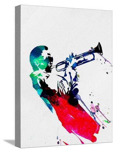 Miles Watercolor-Lora Feldman-Stretched Canvas Print