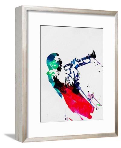 Miles Watercolor-Lora Feldman-Framed Art Print