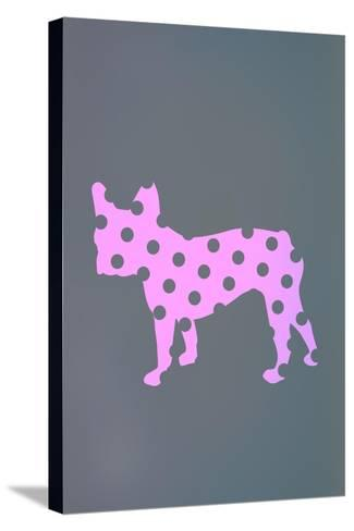 French Bulldog Polka Dots--Stretched Canvas Print