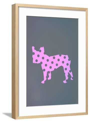 French Bulldog Polka Dots--Framed Art Print