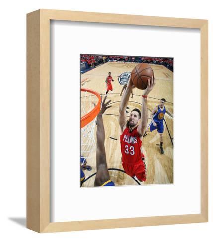 Golden State Warriors v New Orleans Pelicans - Game Three-Layne Murdoch-Framed Art Print