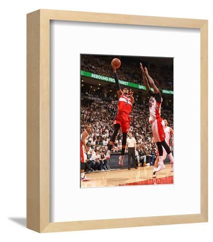 Washington Wizards v Toronto Raptors- Game Two-Ron Turenne-Framed Art Print