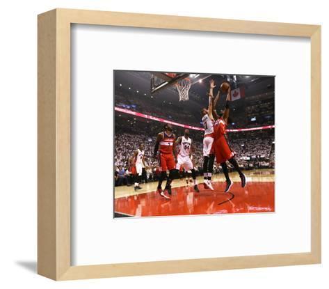 Washington Wizards v Toronto Raptors - Game One-Dave Sandford-Framed Art Print