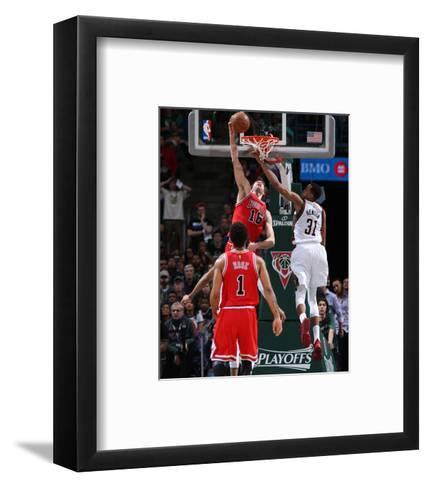 Chicago Bulls v Milwaukee Bucks - Game Three-Gary Dineen-Framed Art Print