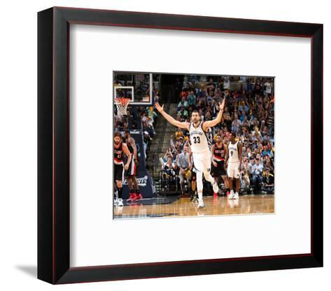Portland Trail Blazers v Memphis Grizzlies - Game Two-Joe Murphy-Framed Art Print