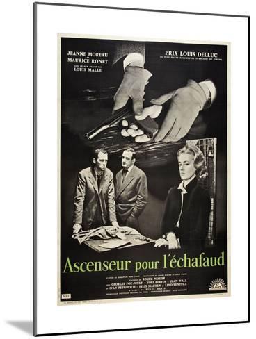 Frantic, 1958 (Ascenseur Pour L'Echafaud)--Mounted Giclee Print