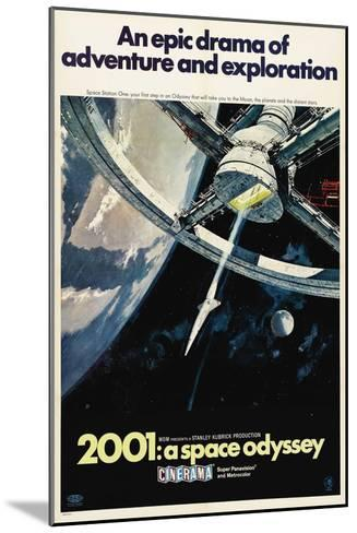 2001: A Space Odyssey, 1968--Mounted Giclee Print