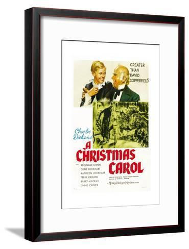 a christmas carol 1938 framed art print - A Christmas Carol Movie 1938