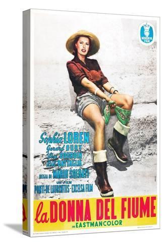 The River Girl 1955 (La Donna Del Fiume)--Stretched Canvas Print