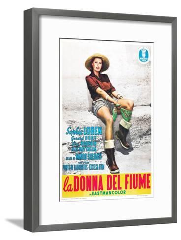 The River Girl 1955 (La Donna Del Fiume)--Framed Art Print