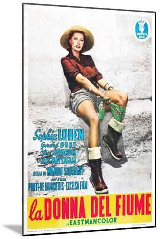 The River Girl 1955 (La Donna Del Fiume)--Mounted Giclee Print