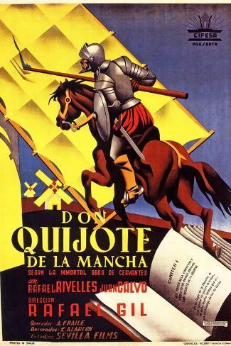 Don Quixote, 1947 (Don Quijote De La Mancha)--Stretched Canvas Print