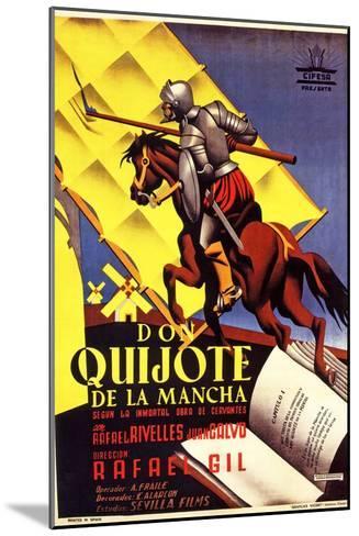 Don Quixote, 1947 (Don Quijote De La Mancha)--Mounted Giclee Print
