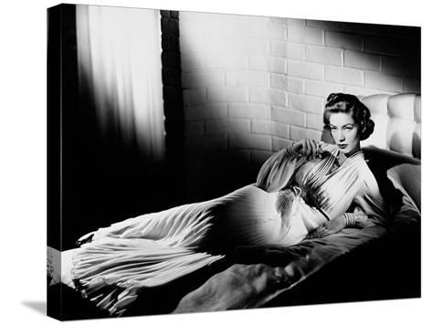 Lauren Bacall--Stretched Canvas Print
