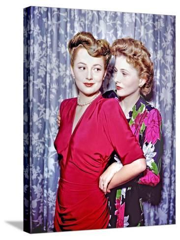 Joan Fontaine, Olivia De Havilland--Stretched Canvas Print