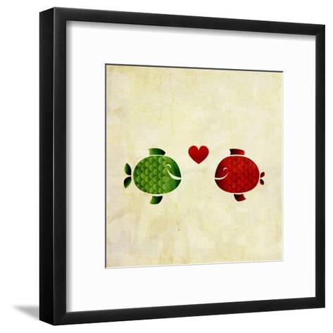 Peces Enamorados- elimg-Framed Art Print