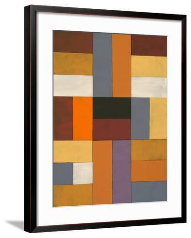 An Abstract Painted Collage-clivewa-Framed Art Print