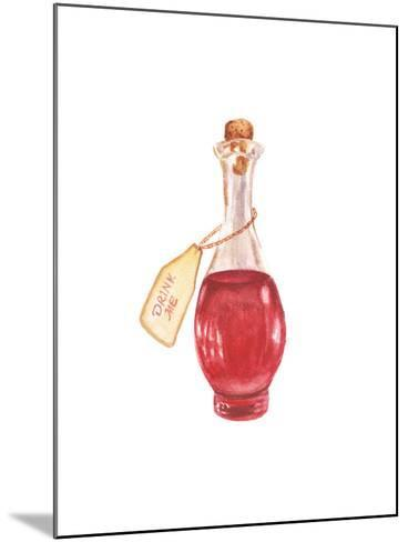 Watercolor Magic Bottle-lenavetka87-Mounted Art Print